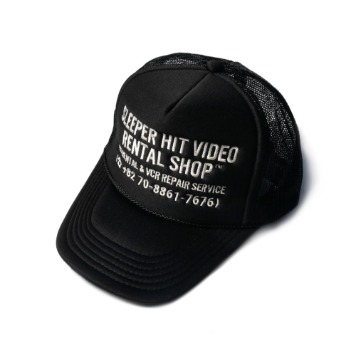 SLEEPER HIT VIDEOS.H.V. Staff Mesh Cap(Black)