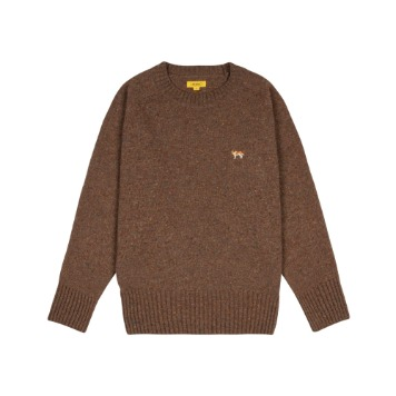 THE RESQ & COBarry Embroidery Sweater(Tobacco Brown)