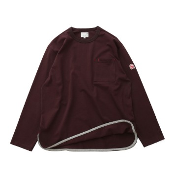 HORLISUN x TEXT SLNCEmery Long Sleeve Pocket Seasonal T(Deep Purple)