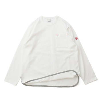 HORLISUNEmery Long Sleeve Pocket Seasonal T(Off White)10% Off