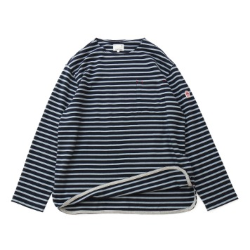 HORLISUNUnisex Union Pocket Stripe Seasonal T(Navy/Blue)10% Off