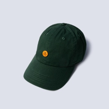 NAMER CLOTHINGSmile Button Cotton Cap(Green)