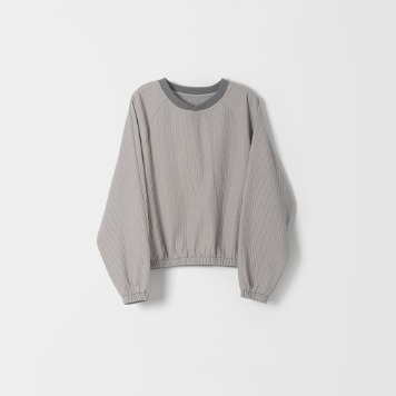 DONA DONAEasy Quilted Pullover(Grey)30% OFF