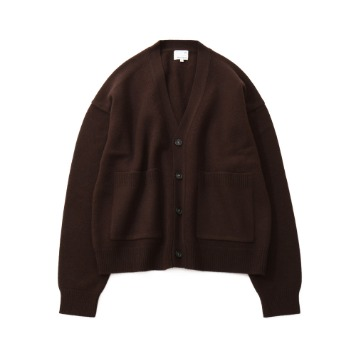 HORLISUNElliot Heavy Knit Cardigan(Dark Brown)