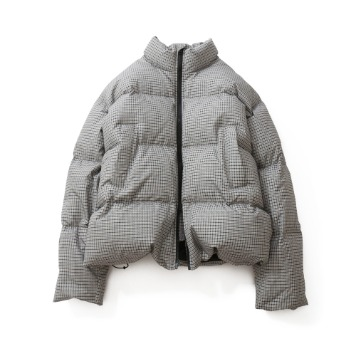 HORLISUNSouthpark Check Pattern Duckdown Jacket(Gray Beige)