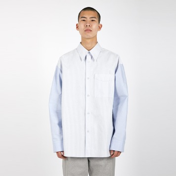 AFTER PRAYPannel Oxford Shirt(Sky)