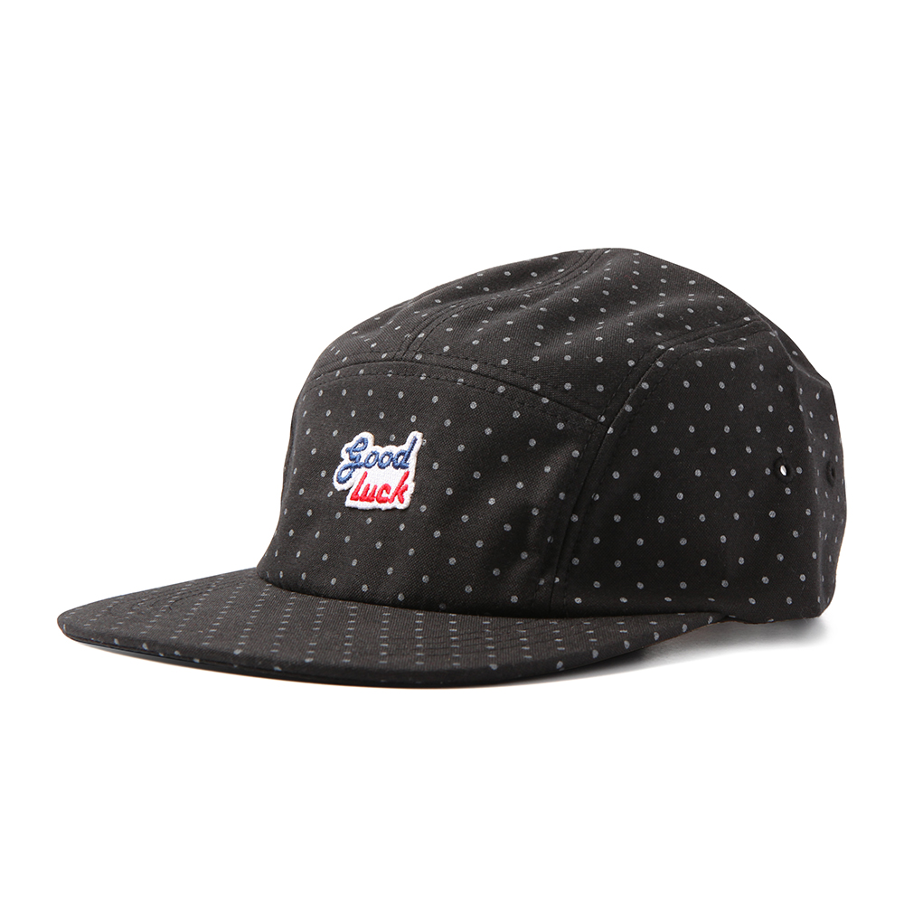 GOOD NIGHT & GOOD LUCK2 Colors Logo Camp Cap(Dot Black)