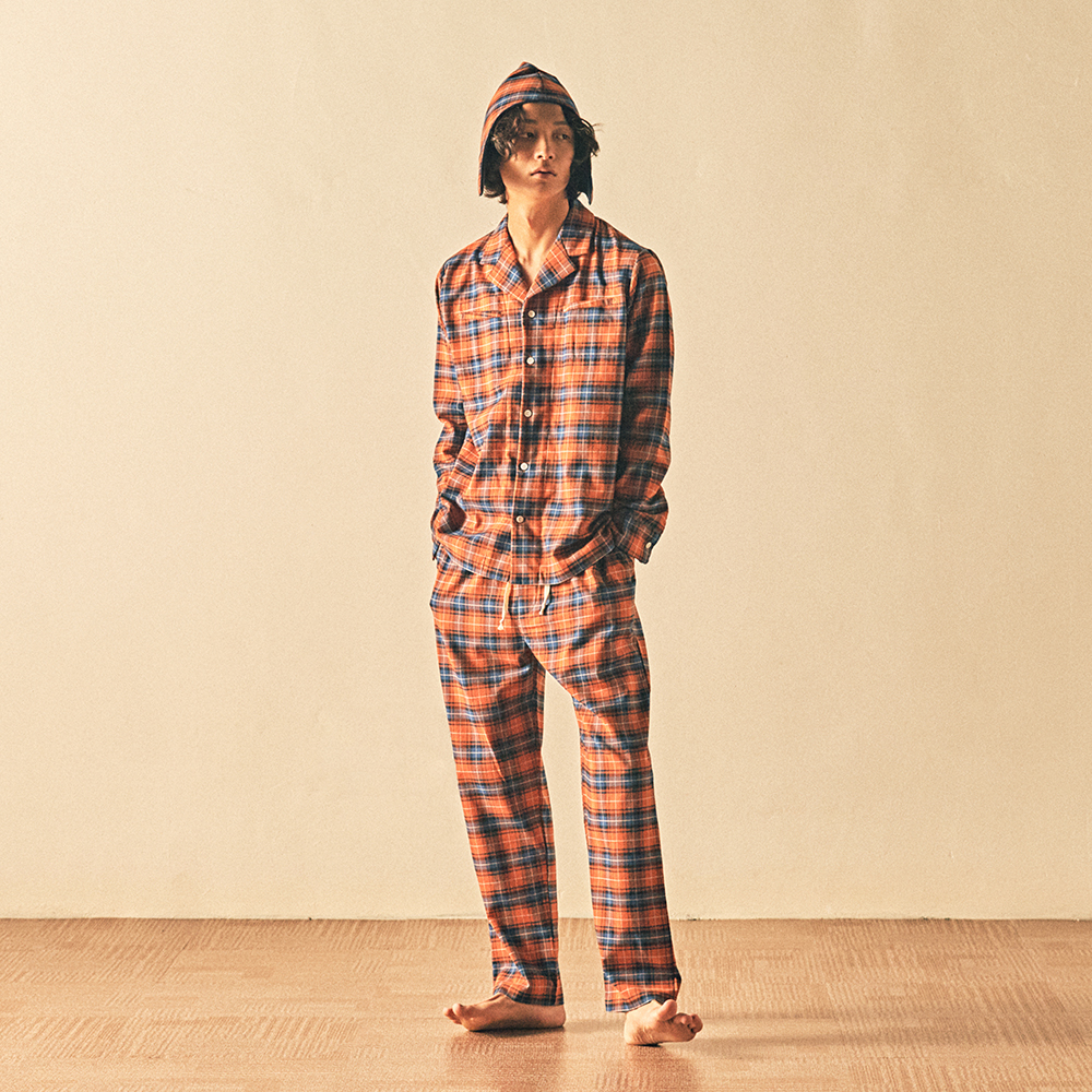 MONOPISPASeth PJ Set(Flannel Pumpkin Plaid)