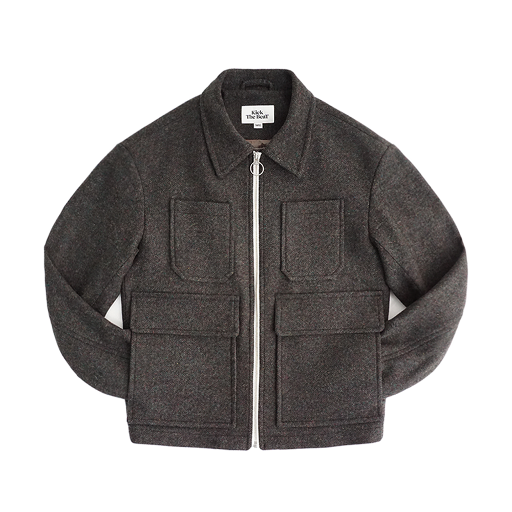KICK THE BEATUnisex Wool Blouson(Hunting Green)30% Off