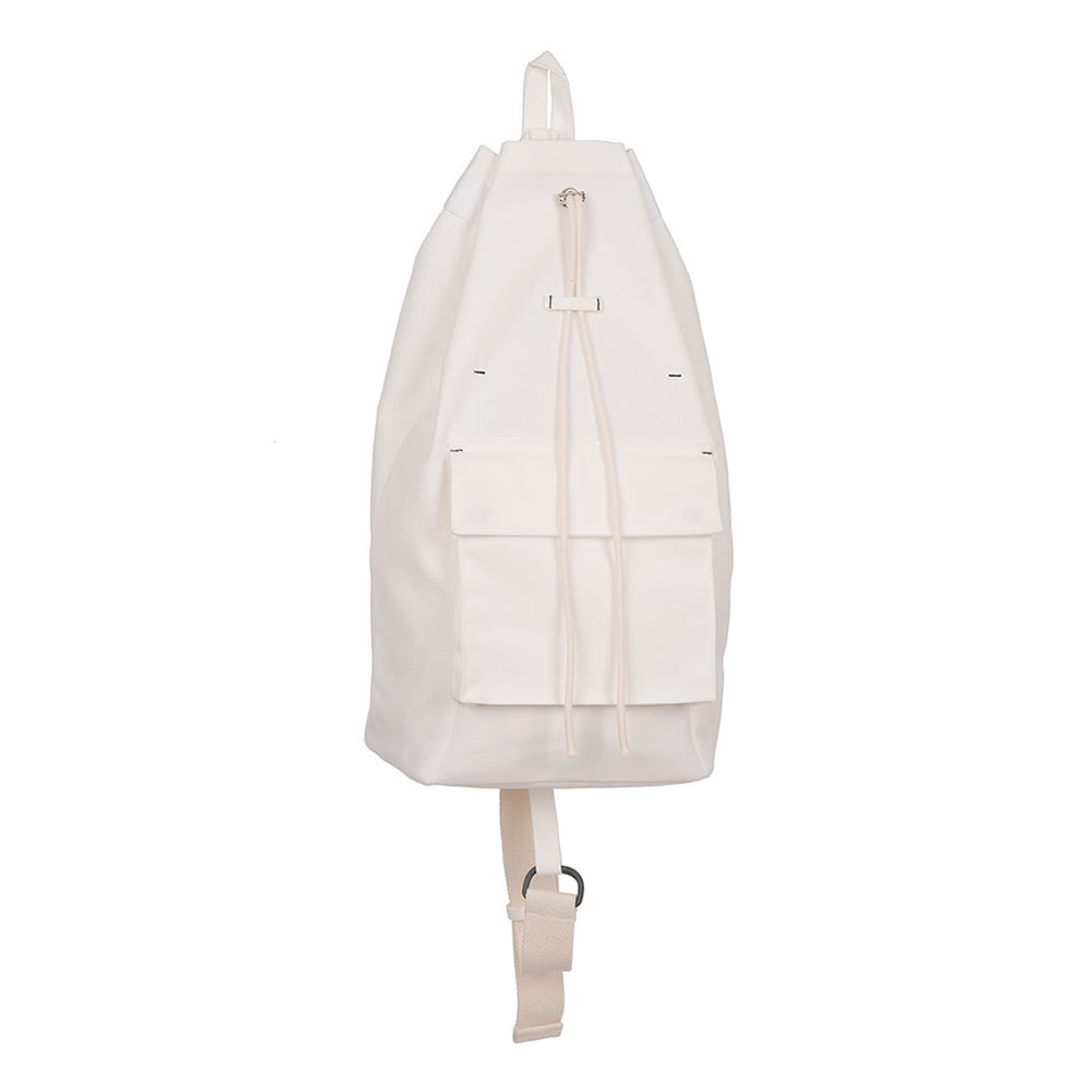 POLYTERUOne Shoulder Drawstring Bag(Cream White)