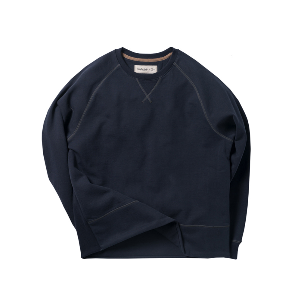 ROUGH SIDEHide-rib Sweat(Navy)