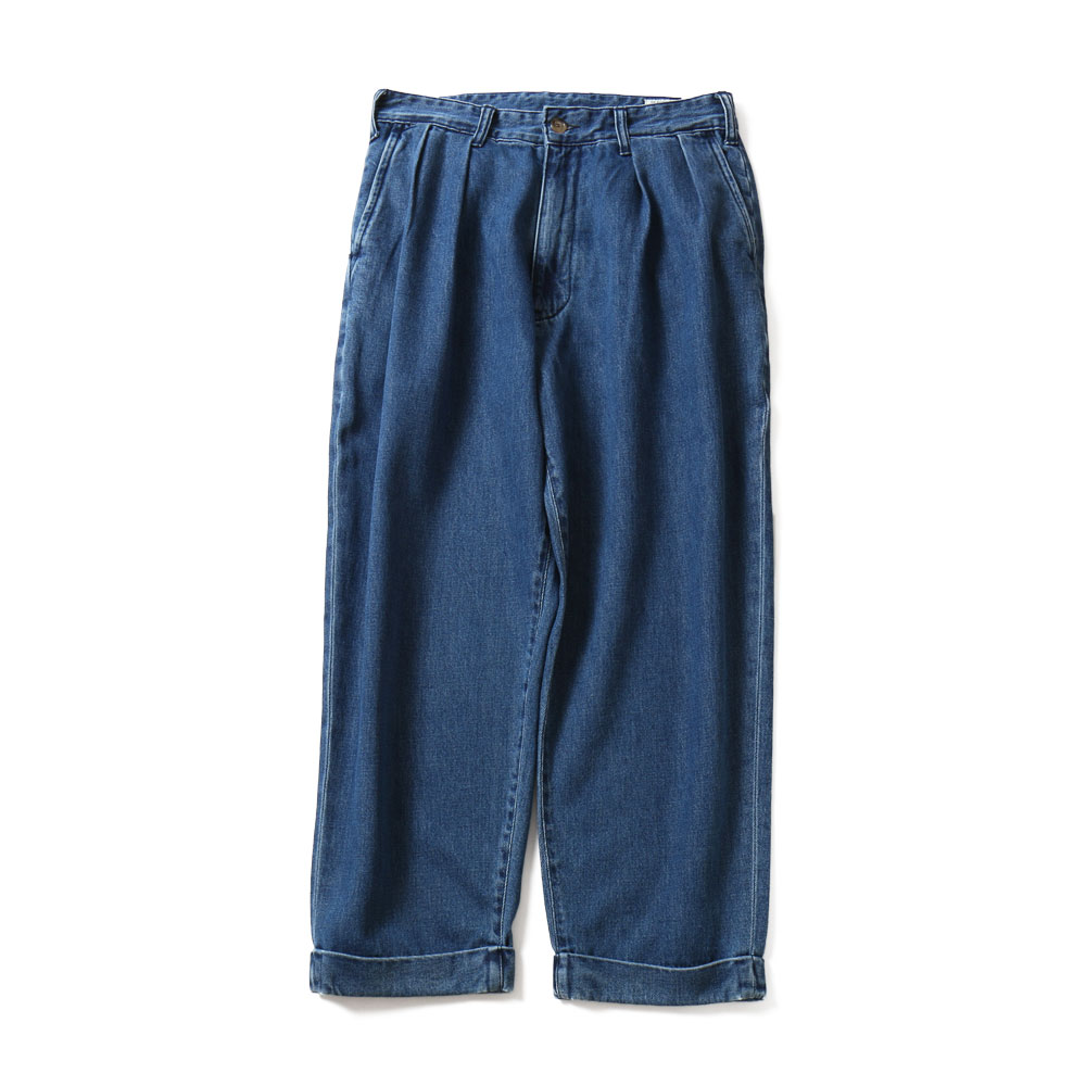 HORLISUNCorrigin Wide Denim Pants(Light Navy)10% Off