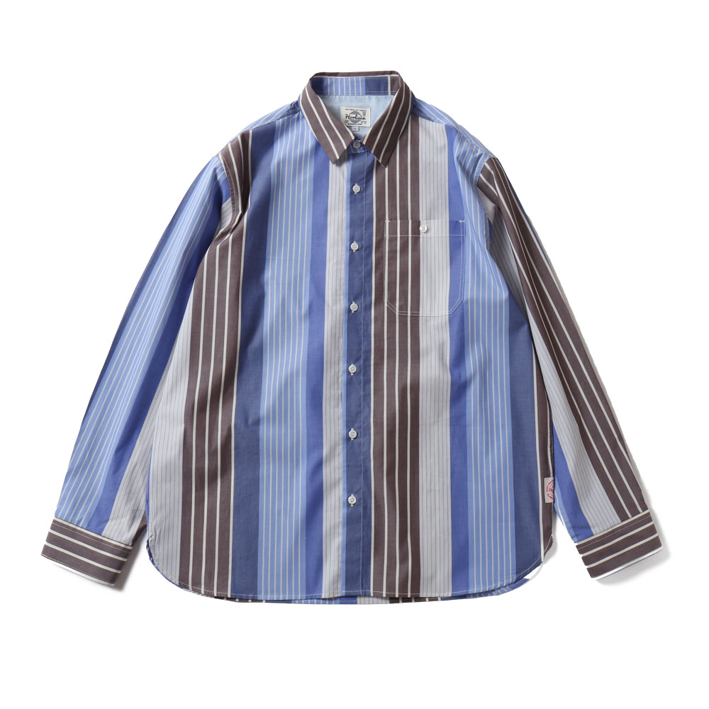 HORLISUNOsborne Multi Stripe Shirts(Blue Grey)20% Off