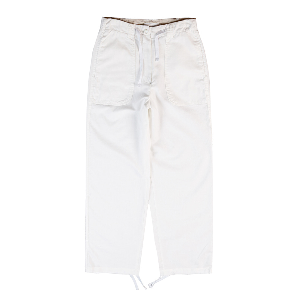 TOELinen String Slacks Pants(White)30% Off