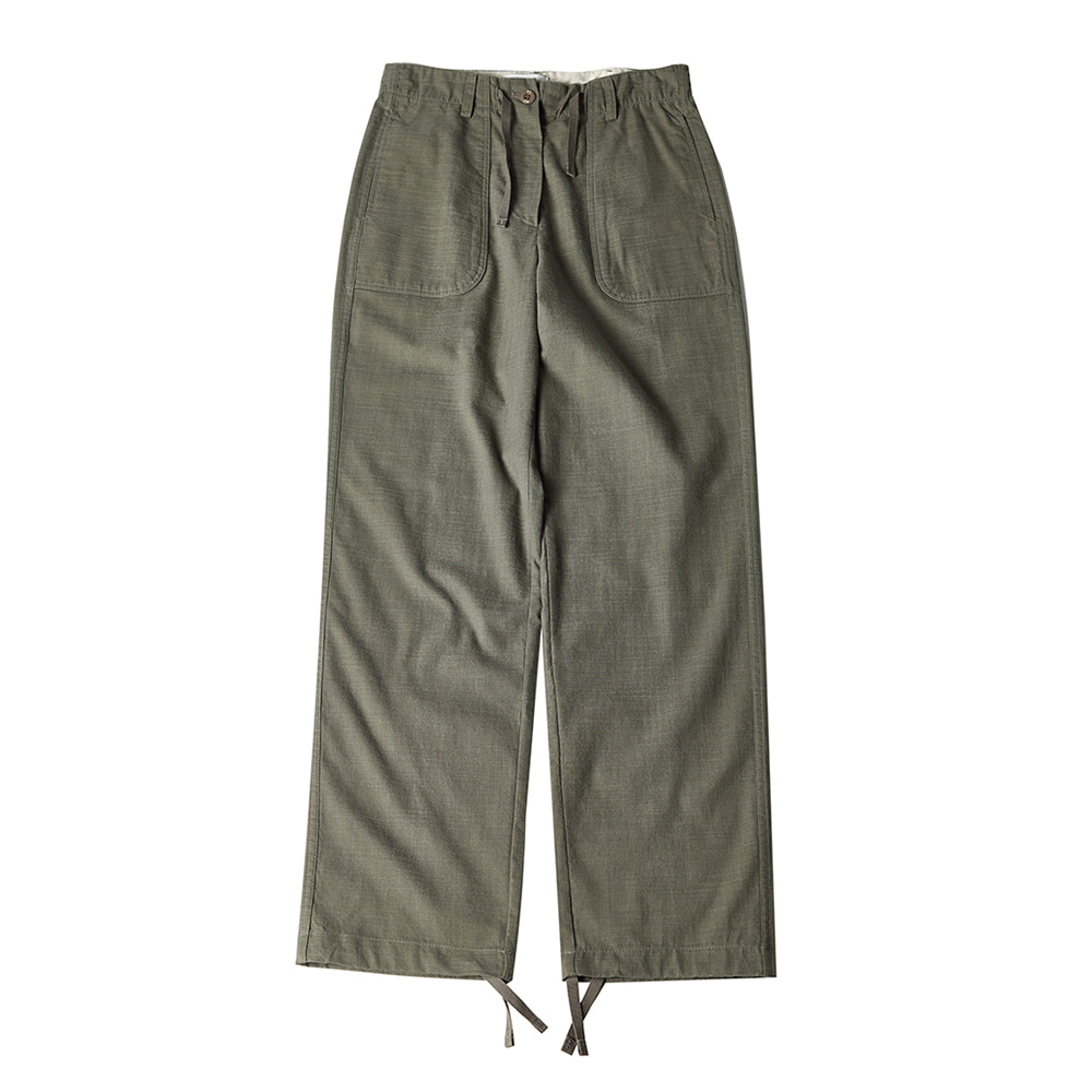 TOELinen String Slacks Pants(Khaki)30% Off