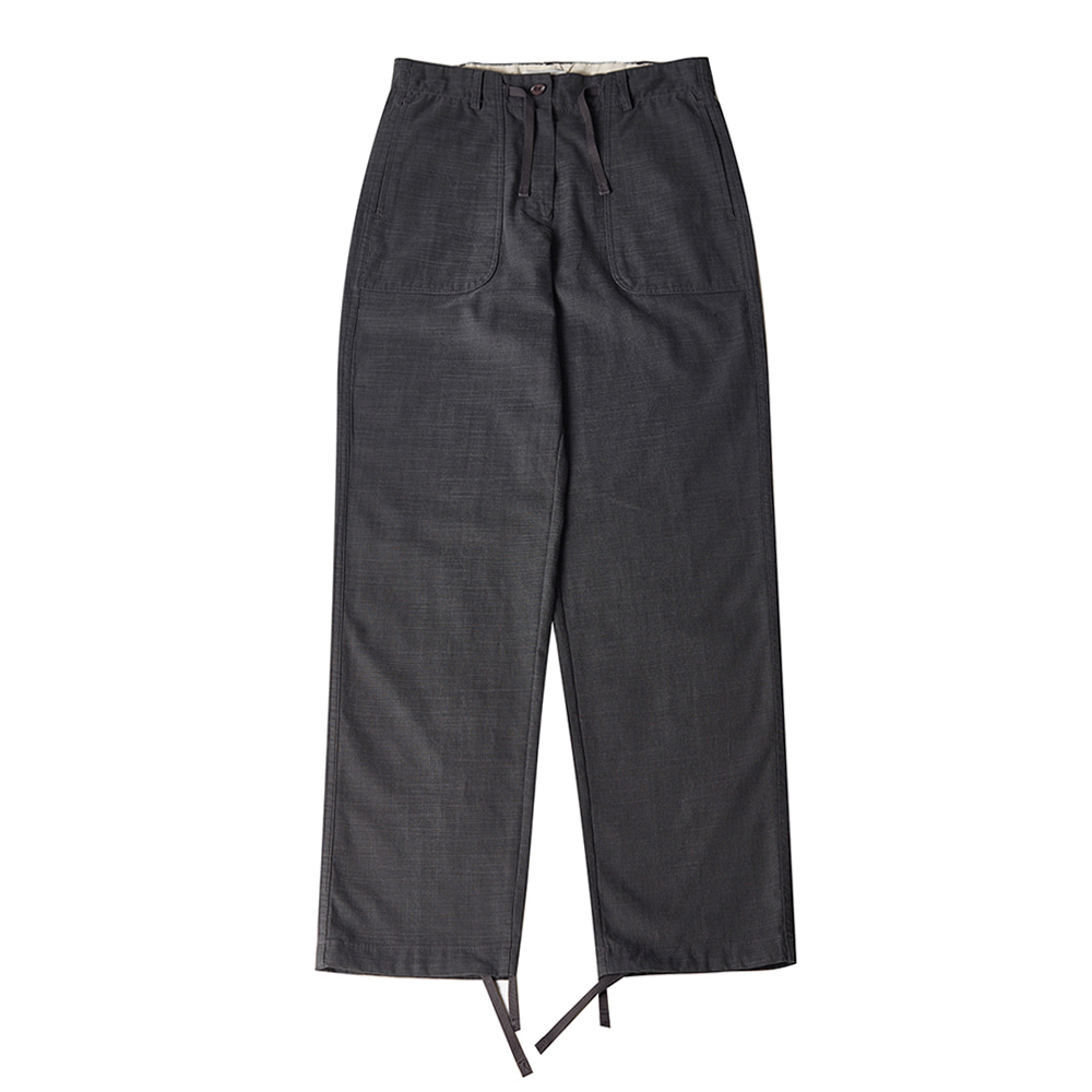 TOELinen String Slacks Pants(Charcoa)30% Off