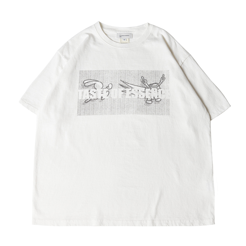 TOEUnisex Tortoise Printed Half T(White)30% Off