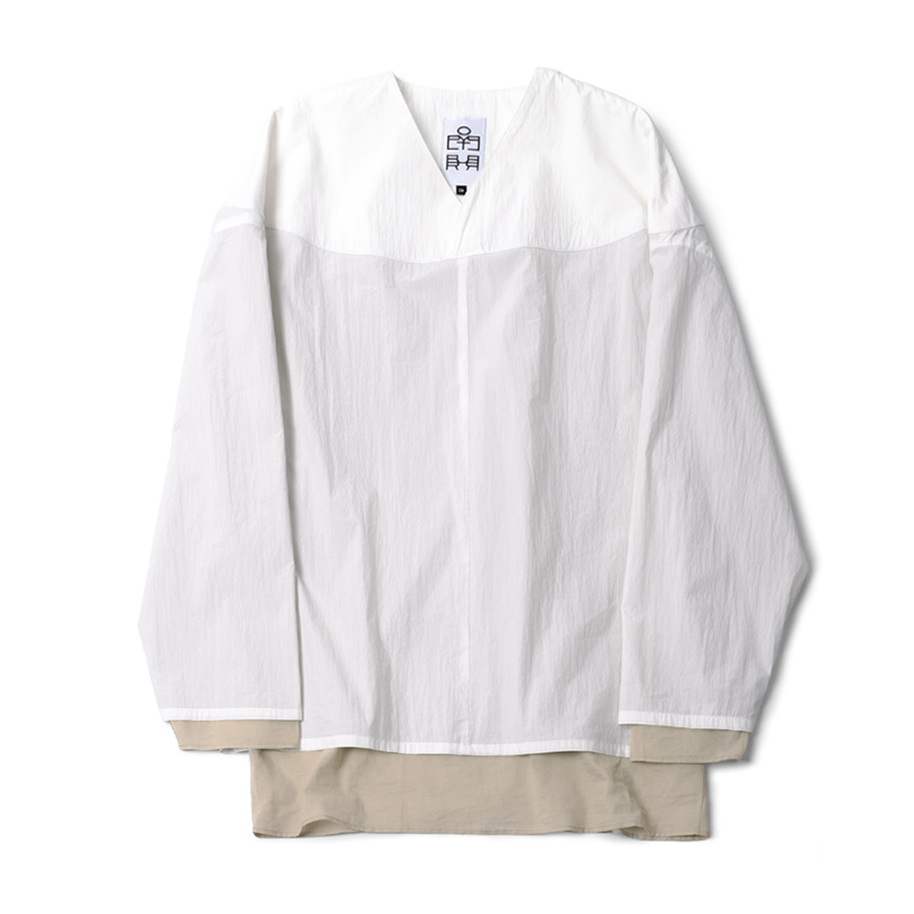 POLYTERULayered Pullover Shirts(White)