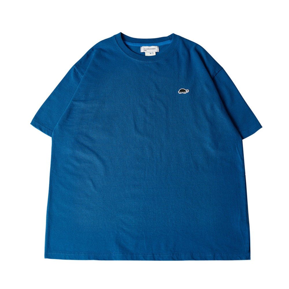 TOEUnisex EMB Short Sleeve T(Blue)30% Off