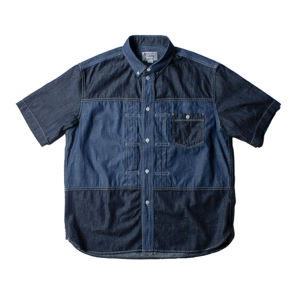 NAMER CLOTHING1st Denim Mix Shirts(Navy)