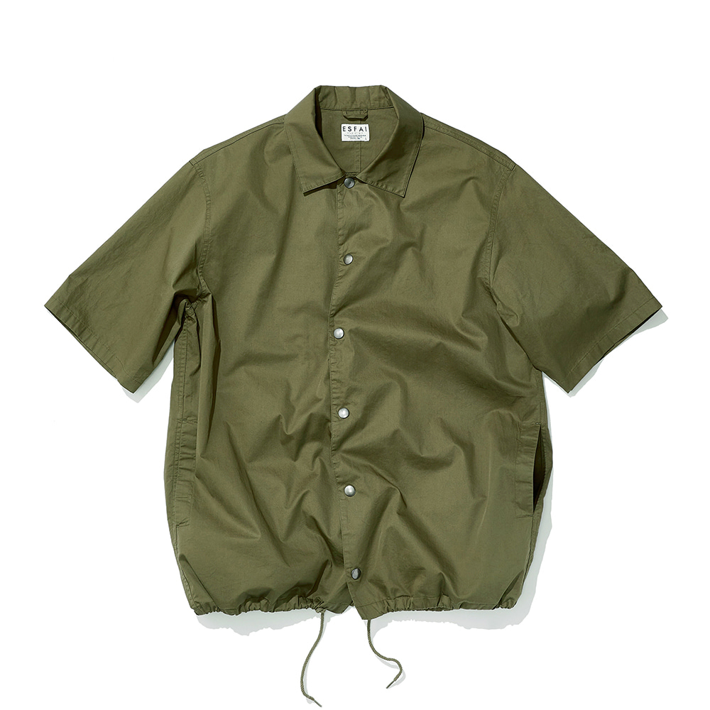 ESFAIHalf Sleeve Coach Shirt(Khaki)30% Off