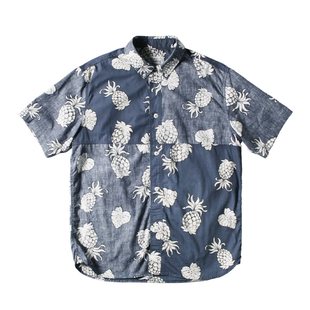 NAMER CLOTHINGReversed Pineapple Shirts(Navy)