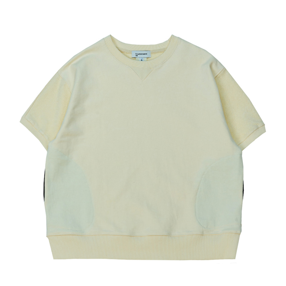 TOEHalf Sleeve Pocket Sweatshirt(Ivory)30% Off