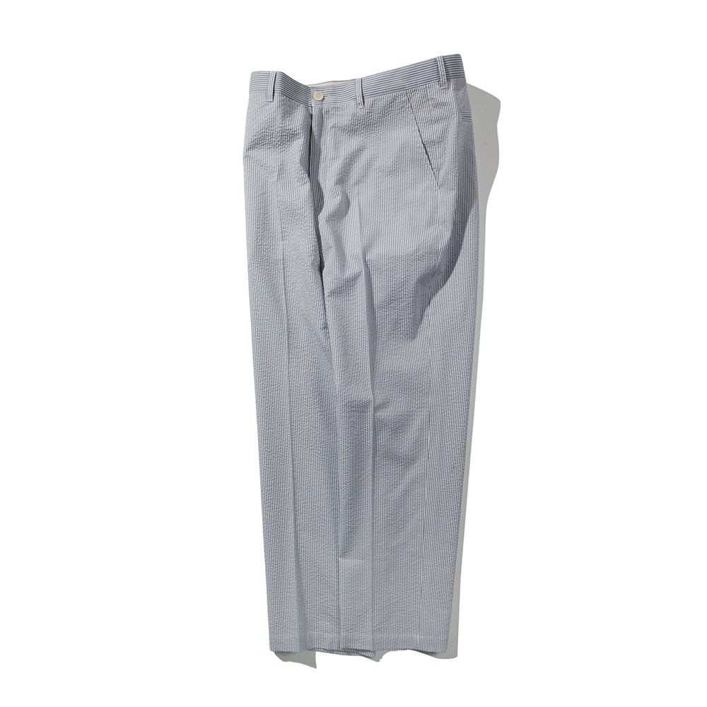 POTTERYWashed Tapered Pants Supima Cotton Seersucker(Light Grey)