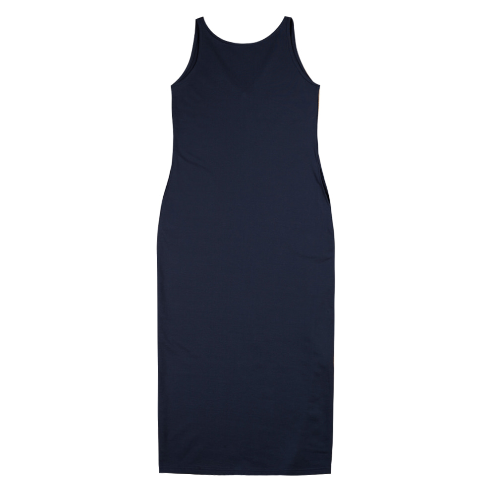 TOESleeveless Simple Dress(Navy)