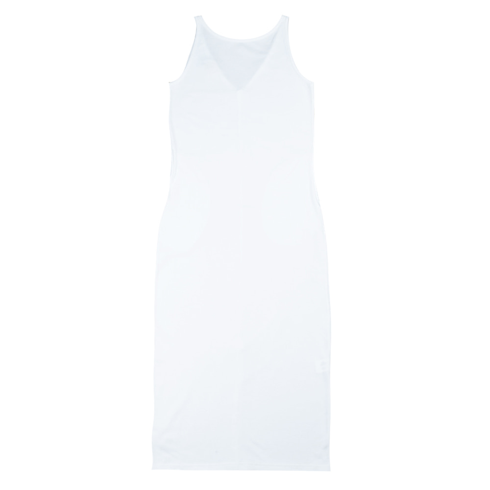 TOESleeveless Simple Dress(White)30% Off