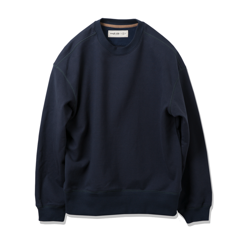 ROUGH SIDEOversized Sweat Shirts (Navy)