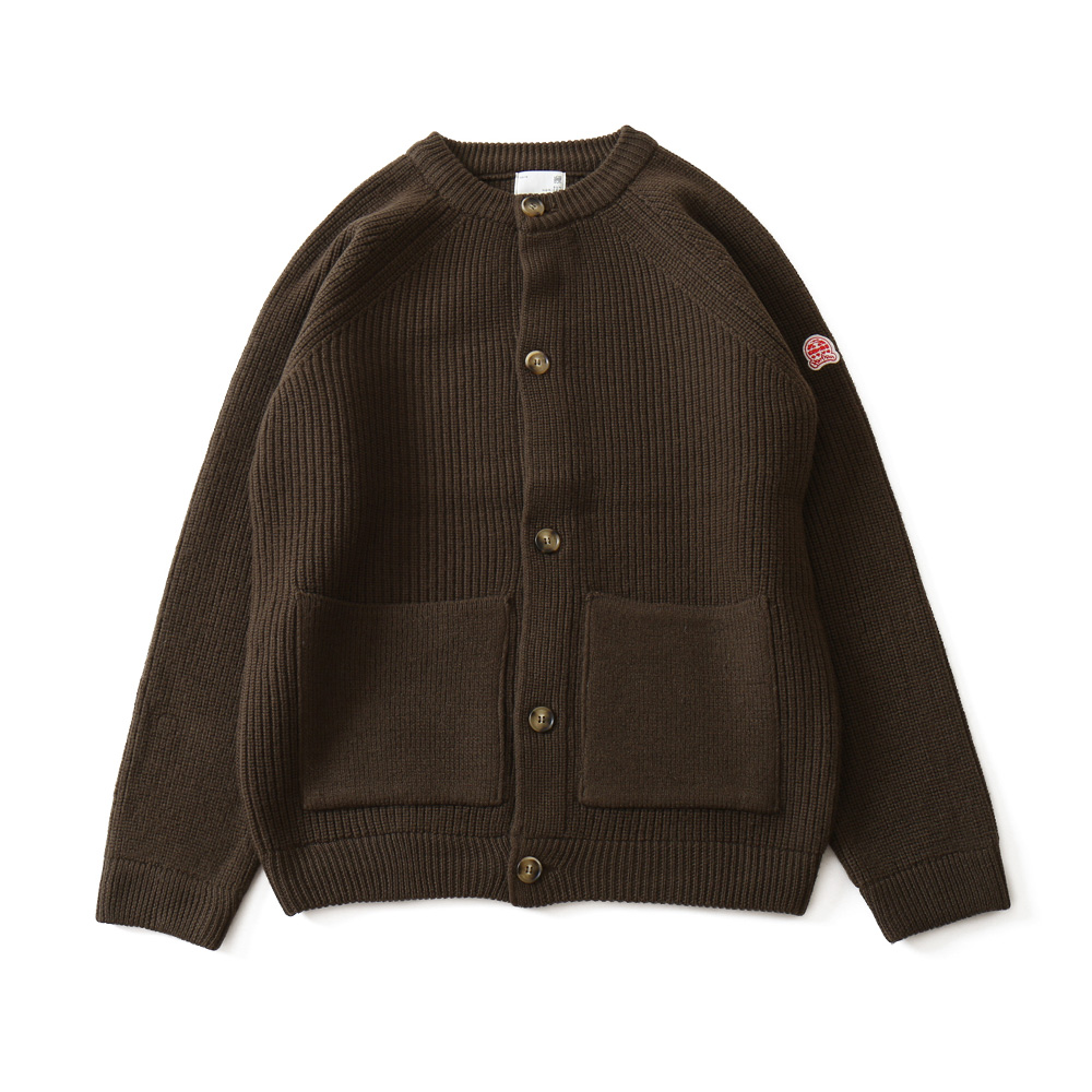 HORLISUNAnnette Raglan Cardigan Heavy Knit(Dark Brown)