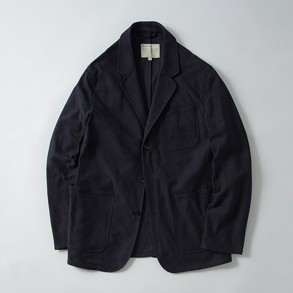 POTTERYWashed Sports JacketKAYANU Cotton Vintage Chino Cloth(Navy)