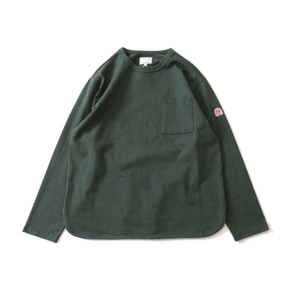 HORLISUNEmery Long Sleeve Pocket T(Dark Green)10% Off