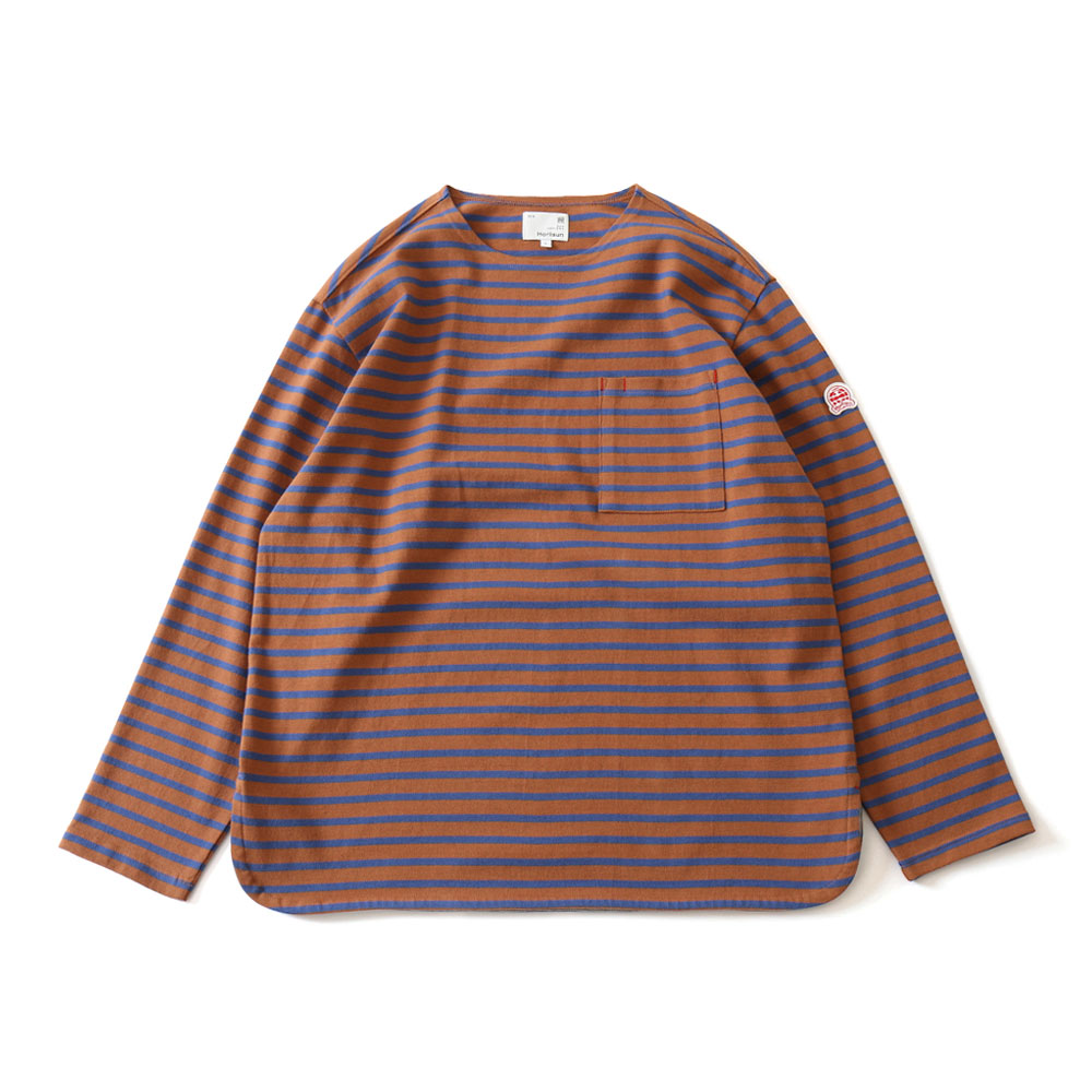 HORLISUNUnion Long Sleeve Pocket T(Brown Blue)