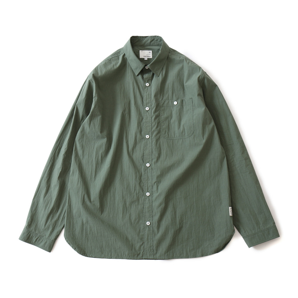 HORLISUNDundas Cotton Nylon Shirts(Dark Green)