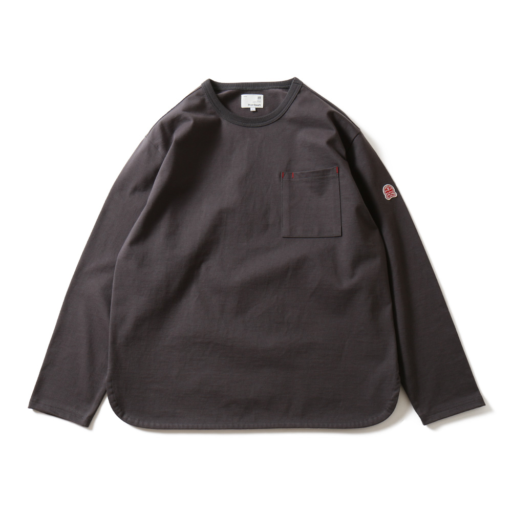 HORLISUNEmery Long Sleeve Pocket T(Charcoal)10% Off
