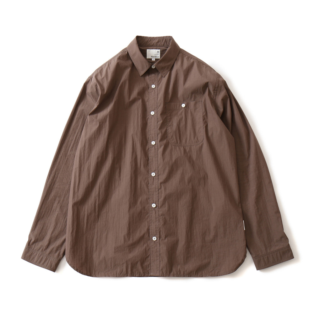 HORLISUNDundas Cotton Nylon Shirts(Brown)10% Off