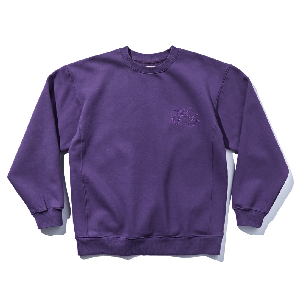 DEUTERODTR1918 90s Sweat Shirts(Purple)