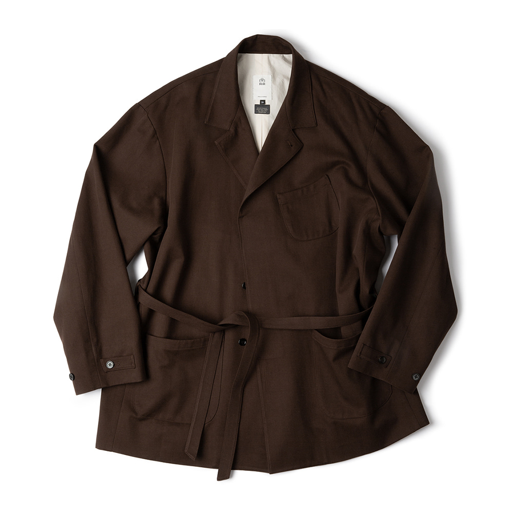 POLYTERUHospital Jacket(Brown)