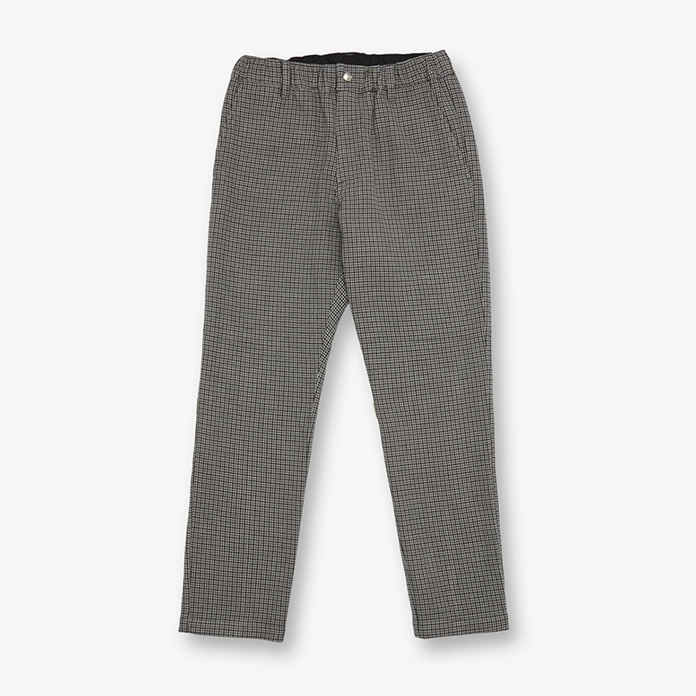 UNIVERSAL OVERALLWomen's Check Tapered Pants(Grey)