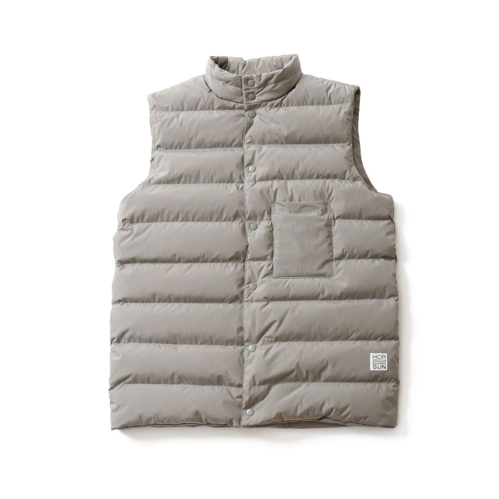 HORLISUNSeward Reversible Goosedown Vest Jacket(Silver Grey)10% Off