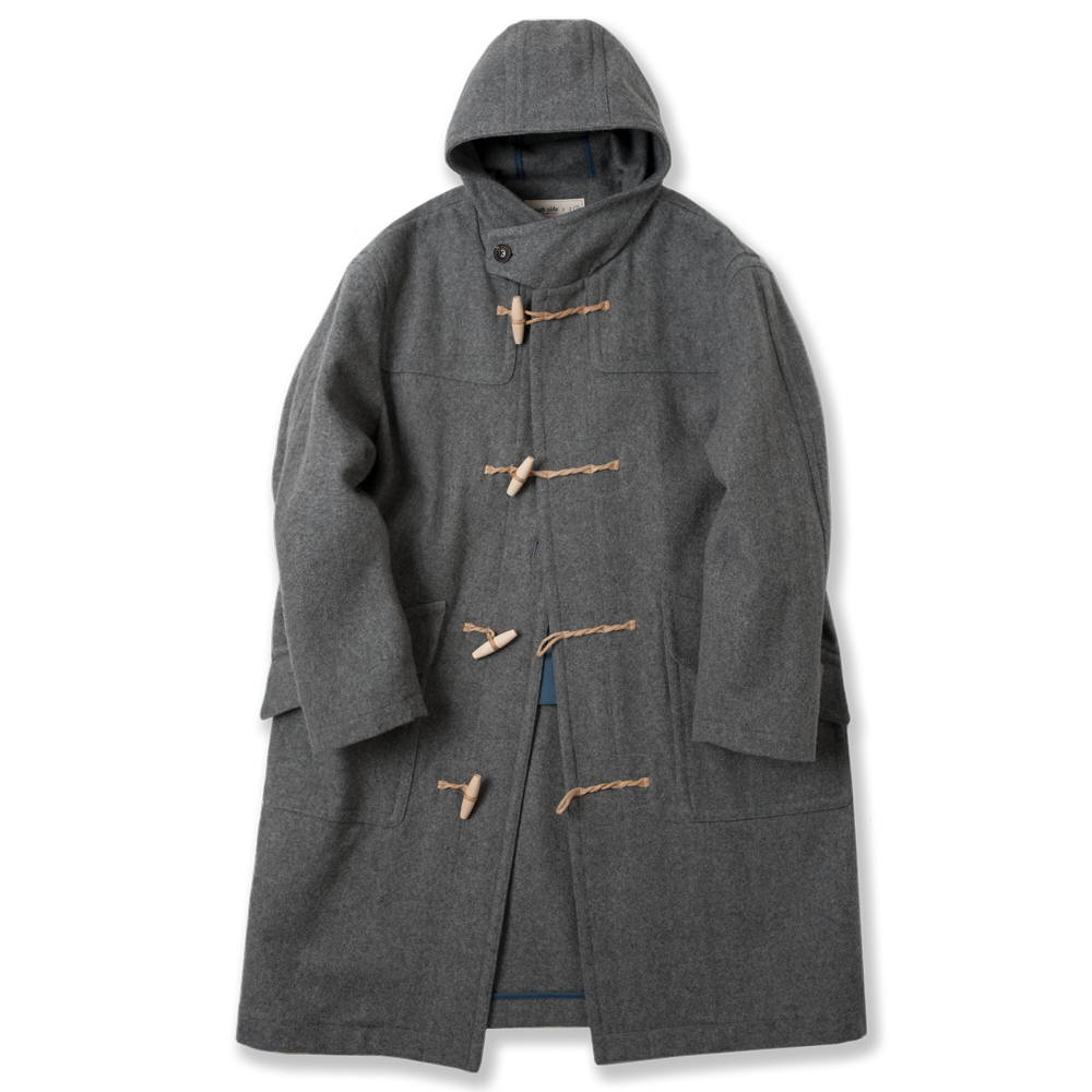 ROUGH SIDEDuffle Coat(Grey)