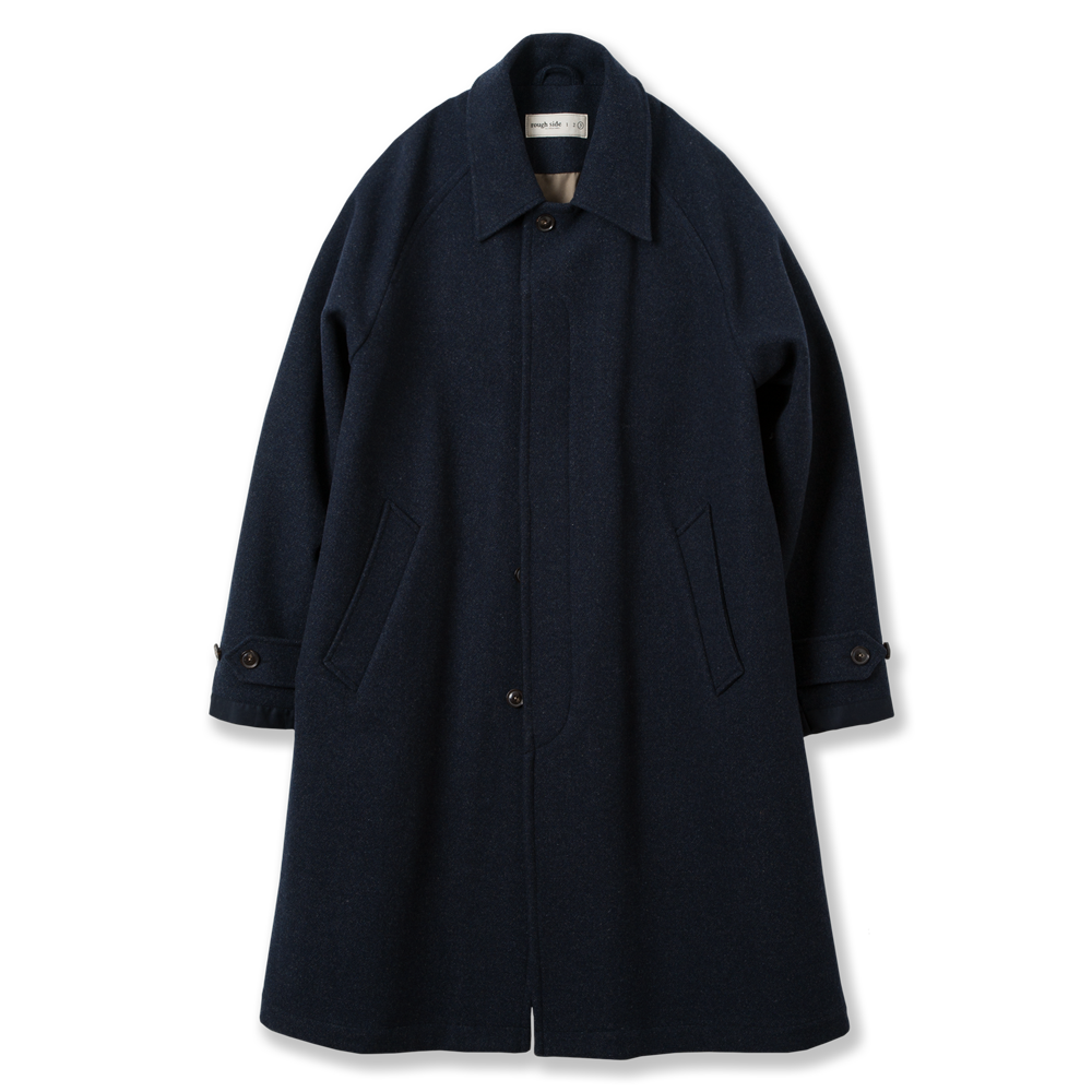 ROUGH SIDEBalmacaan Coat(Navy)