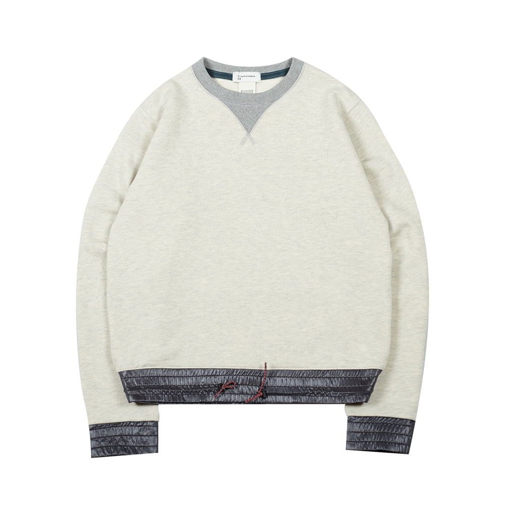 TOEColor Block Sweat Shirt(Heather)35% Off