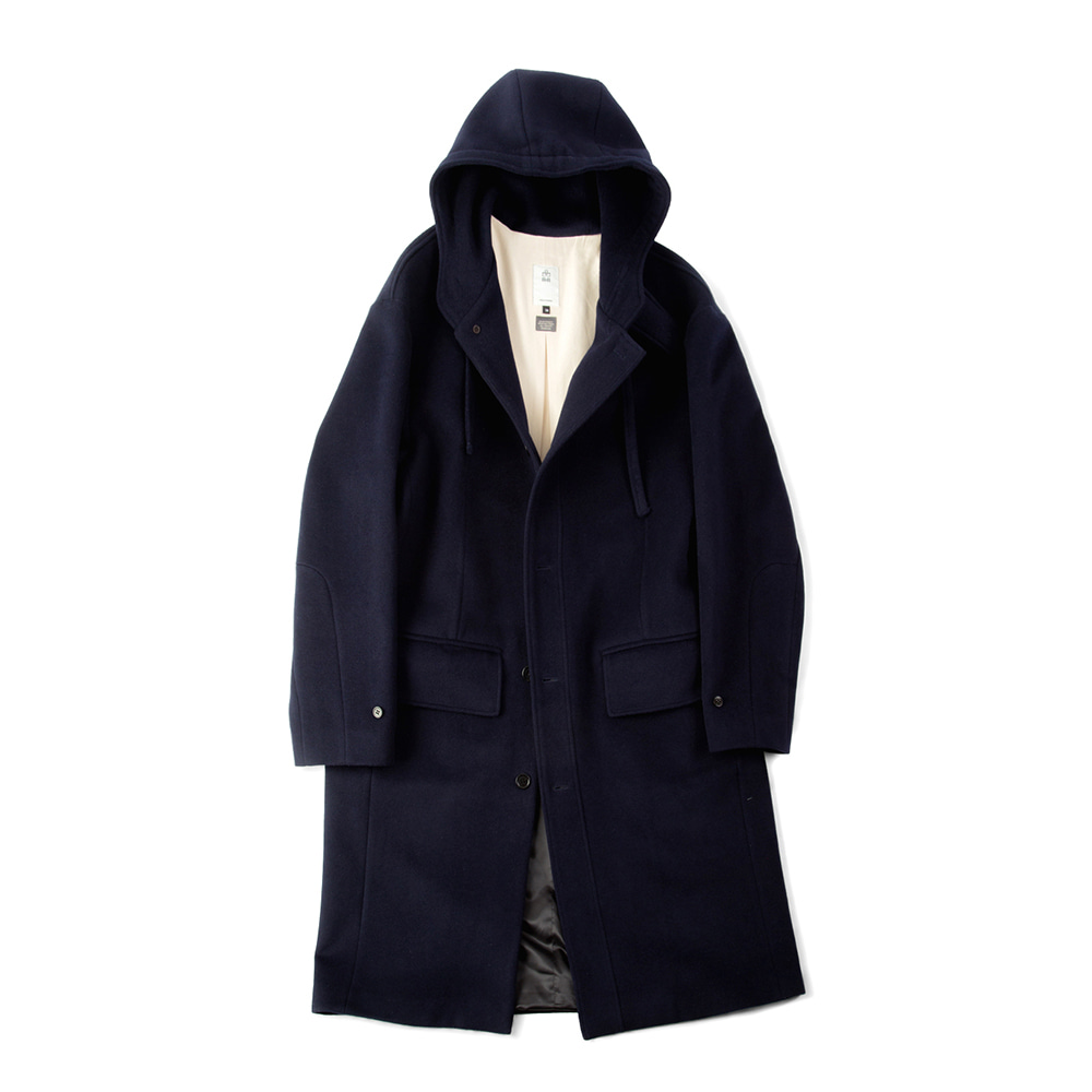 POLYTERUWool String Hooded Coat(Navy)