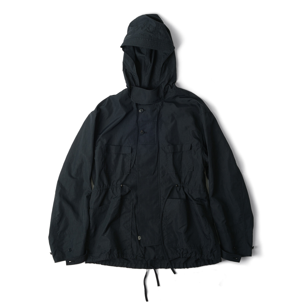 POLYTERUNylon Hooded Parka (Dark Navy)