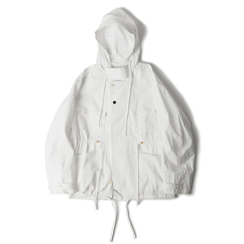 POLYTERUCotton Hooded Parka (White)