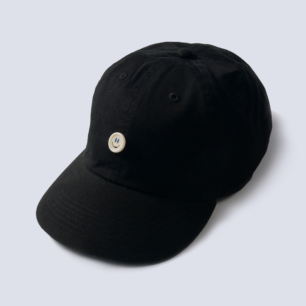 NAMER CLOTHING x TEXT SLNC*RE STOCK*Smile Button Cotton Cap(Black)