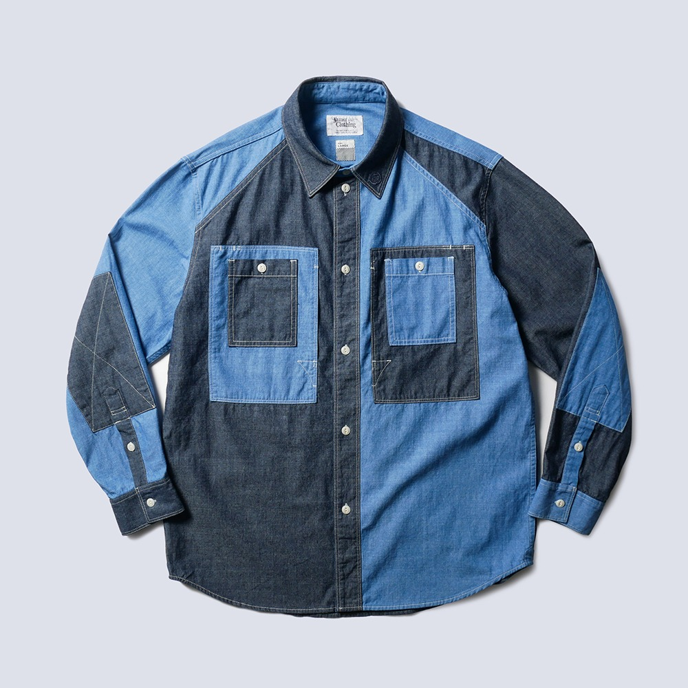 NAMER CLOTHINGBluer Utility Shirts(Crazy)